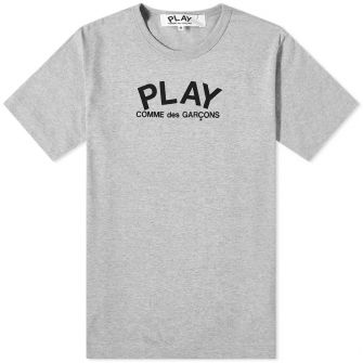 COMME DES GARCONS PLAY BACK LOGO HEART TEE