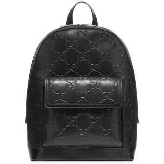 GUCCI GG LEATHER BACKPACK
