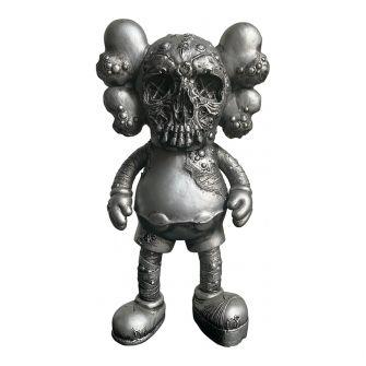 KAWS Pushead Companion Vinyl Figure Silver