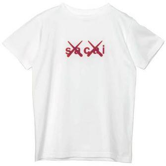 KAWS X SACAI KIDS FLOCK PRINT TEE WHITE