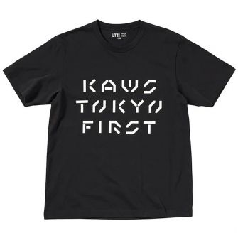 KAWS X UNIQLO TOKYO FIRST TEE (JAPANESE SIZING) BLACK