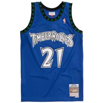 MITCHELL & NESS MITCHELL & NESS MENS NBA MINNESOTA TIMBERWOLVES '03 'KEVIN GARNETT' SWINGMAN JERSEY
