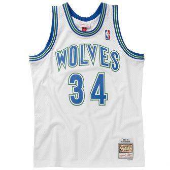 MITCHELL & NESS MENS MITCHELL & NESS NBA SWINGMAN JERSEY 1995 TIMBERWOLVES ISAIAH RIDER JR