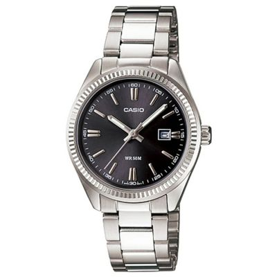 CASIO LTP-1302D-1A1 STAINLESS STEEL STRAP WOMENS SILVER