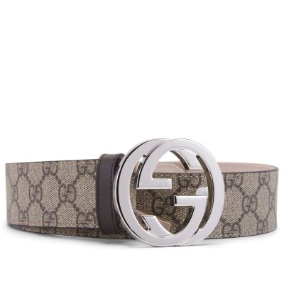 GUCCI SUPREME CANVAS DOUBLE-SIDED BELT
